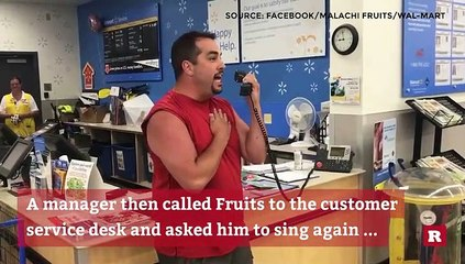 Man receives applause as he sings national anthem inside a Wal-Mart | Rare News