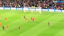 Lionel Messi fantastic penalty goal Barcelona vs Lyon 5-1