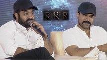 RRR Press Meet | Jr NTR Reveals Interesting Facts About RRR | Ram Charan | SS Rajamouli |DVV Danayya