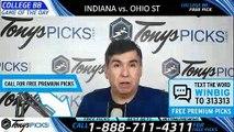 Indiana Hoosiers vs. Ohio State Buckeyes 3/14/2019 Picks Predictions