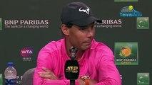 ATP - Indian Wells 2019 - Quand Rafael Nadal se fait mal en pleine conférence de presse !