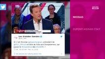 """Nicolas Dupont-Aignan viré de C à Vous : Il """"ne regrette pas"""" son clash avec Patrick Cohen"""