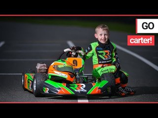 'Britain's youngest racing driver' - the fearless four-year-old who drives 40mph go karts! | SWNS TV