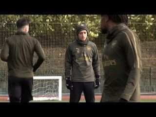 Arsenal Train Ahead Of Rennes Europa League Clash