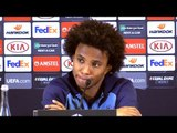 Willian Full Pre-Match Press Conference - Dynamo Kiev v Chelsea - Europa League