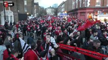 Inside ambiance Arsenal / Stade Rennais F.C.