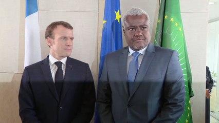 Déclaration avec M. Moussa Faki Mahamat, président de la Commision de l'Union Africaine