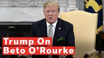 Trump On Beto O'Rourke: 'Is He Crazy Or Is That Just The Way He Acts?'