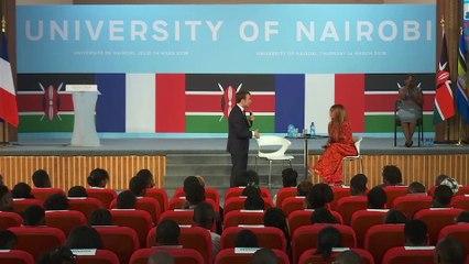 Échange avec les étudiants de l'université de Nairobi