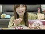 韓国セブンでお餅入りチョコあんこボールっていうの見つけた♡(チャルトックパイあんこボール)