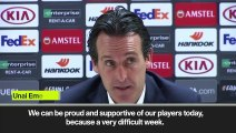 (Subtitled) 'We cam be rproud' says Unai Emery after Arsenal reach Europa League last eight