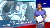 Mga magulang, pabor sa pagsasabatas ng 'Child safety in Motor Vehicles'
