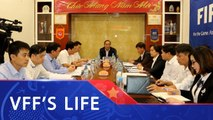 Chủ tịch LĐBĐVN Lê Khánh Hải làm việc với TTĐT Bóng đá trẻ Việt Nam| VFF Channel