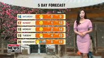 Mix of rain and snow in most regions, dusty in central western regions _ 031519