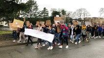 Plus de 200 lycéens marchent pour le climat
