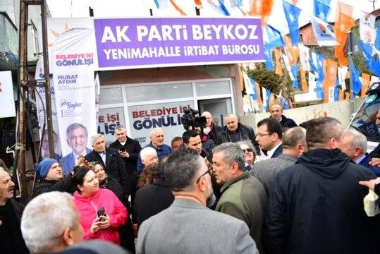 CHP'nin İstanbul Adayı Ekrem İmamoğlu'na AK Parti Seçim Bürosunda Çay Hediye Ettiler
