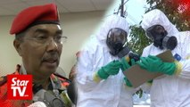 Detection teams checking level of chemical pollution in Pasir Gudang