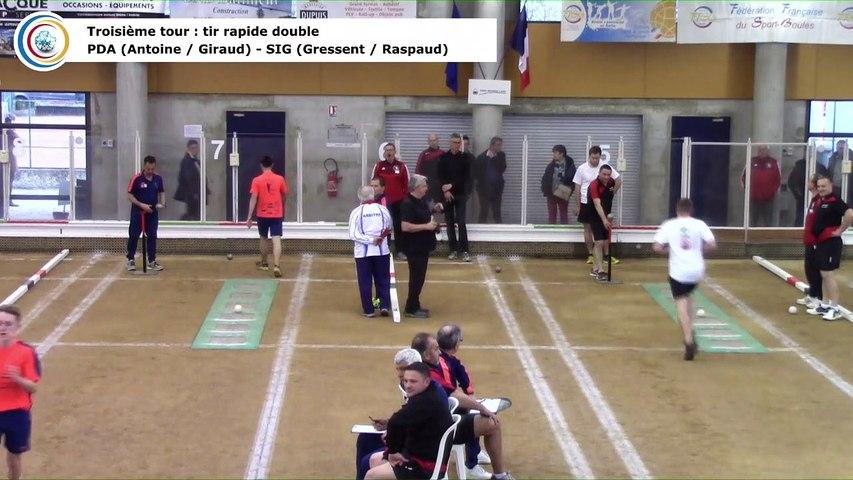 Troisième tour, tir rapide double, finale France Clubs 2019, N4, Pays de l'Arbresle contre Sigean, Saint-Maurice l'Exil 2019