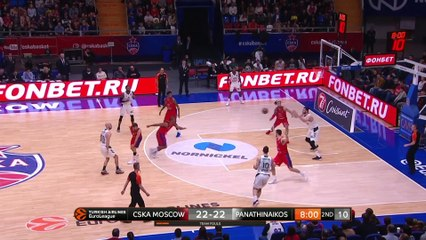 EuroLeague 2018-19 Highlights Regular Season Round 26 video: CSKA 77-78 Panathinaikos
