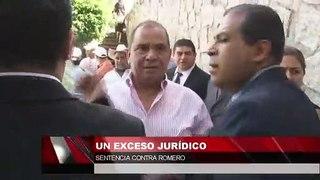 Un exceso jurídico sentencia contra Romero