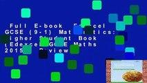 Full E-book  Edexcel GCSE (9-1) Mathematics: Higher Student Book (Edexcel GCSE Maths 2015)  Review