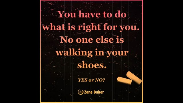 No one has the right to judge you!