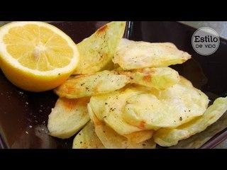 Patatas fritas al microondas   Receta fácil