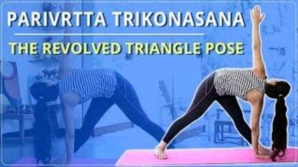 Learn The Revolve Triangled Pose | Parivrtta Trikonasana |Simple Yoga For Beginners |Mind Body Soul
