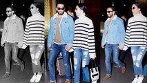Deepika Padukone & Ranveer Singh stun in their Mumbai airport look; Watch video | Boldsky