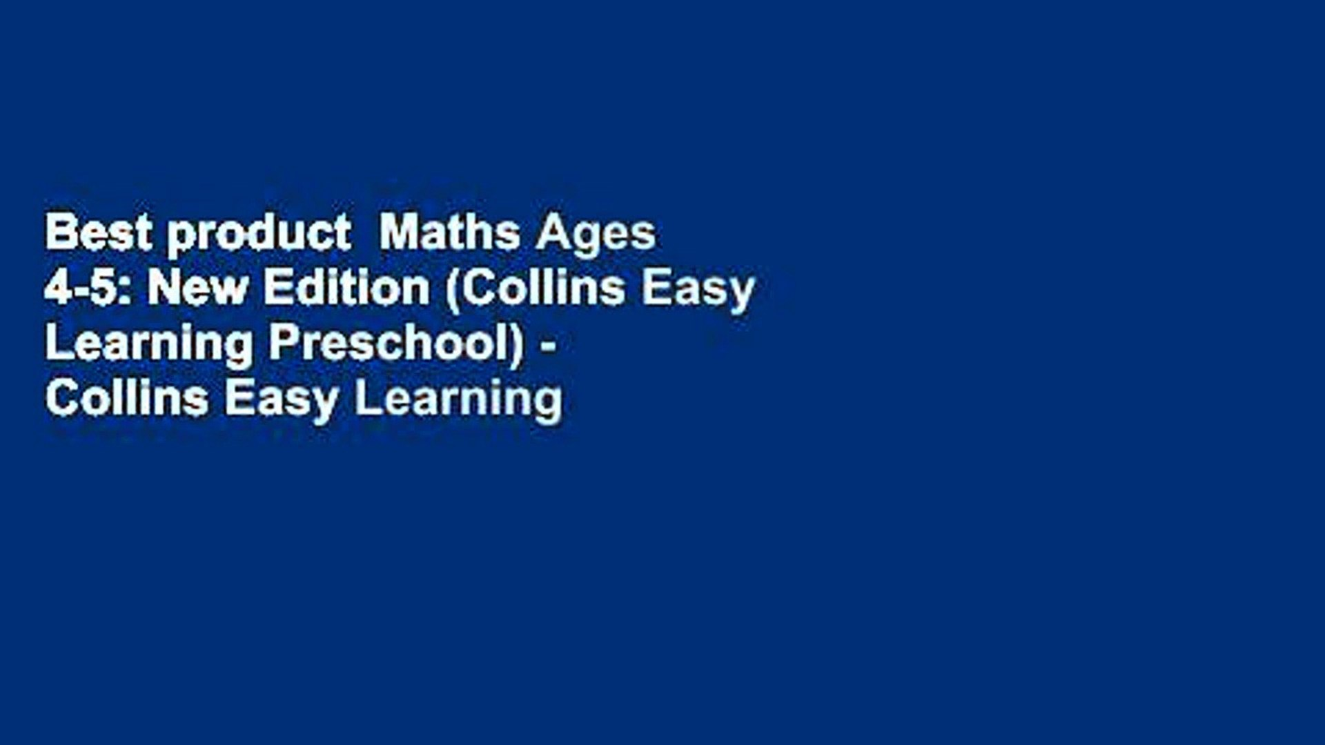 Collins Easy Learning KS2 Mental Maths Ages 7-9 New Edition