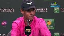 ATP - Indian Wells 2019 - Rafael Nadal accuse la surface en ciment qui esquinte les corps