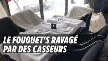 Le Fouquet's vandalisé sur les Champs-Elysées lors de l'Acte 18 des Gilets jaunes