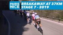 Breakaway at 37KM from the finish line / Echapée à 37KM de l'arrivée - Étape 7 / Stage 7 - Paris-Nice 2019