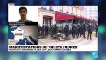 """Manifestations des Gilets jaunes : """"les affrontements se poursuivent sur les Champs-Elysées"""""""