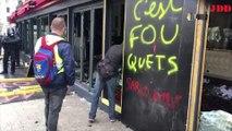 VIDEO. Gilets jaunes : à Paris, le Fouquet's a été vandalisé