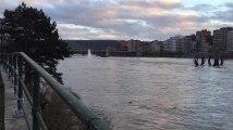 LIEGE - Le niveau de La Meuse a monté
