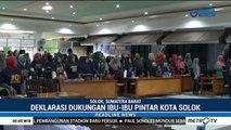 Ratusan Ibu-ibu di Solok Deklarasi Dukung Jokowi-Amin