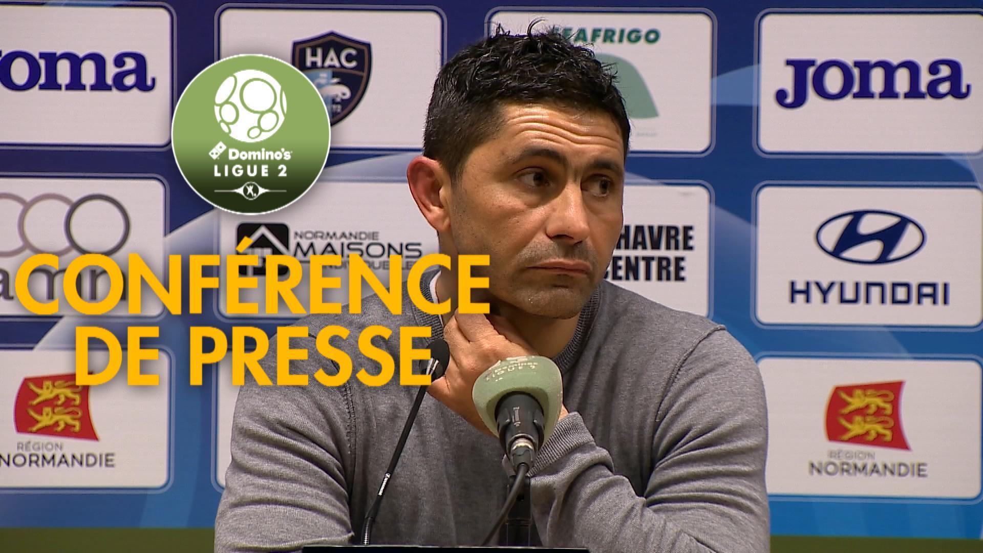 Conférence de presse Havre AC – AC Ajaccio (3-1) : Oswald TANCHOT (HAC) – Olivier PANTALONI (ACA) – 2018/2019