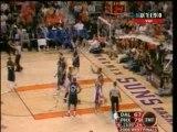 NBA BASKET BALL - Boris Diaw dunks on Nowitzki