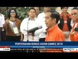 Pidato Jokowi Saat Serahkan Bonus Peraih Medali Asian Games 2018