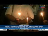 Kota Malang Diguncang Korupsi Massal, Warga Gelar Doa Bersama Di Halaman Gedung DPRD Kota Malang