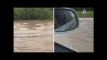 Orages: Près d'Avignon, les fortes pluies ont transformé l'autoroute A7 en fleuve