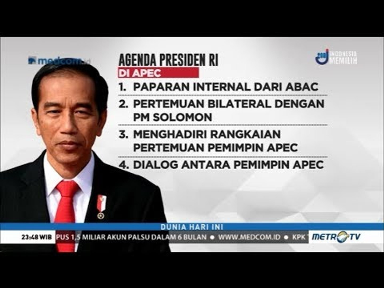 Ini Agenda Jokowi di Hari Kedua KTT APEC 2018
