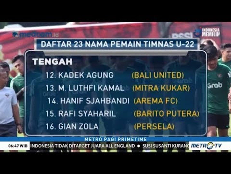 Daftar Skuat Timnas U-22 untuk Piala AFF