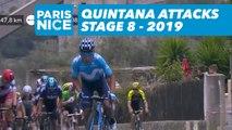 Quintana attacks / Quitana attaque - Étape 8 / Stage 8 - Paris-Nice 2019