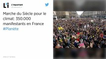 Climat. «Marche du siècle»: 350 000 personnes dans la rue en France, selon les organisateurs