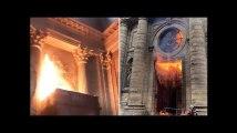 Les images de l'incendie à l'église Saint-Suplice de Paris