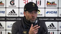 Reaction from Jurgen Klopp after Liverpool beat Fulham 2-1 to go top of EPL