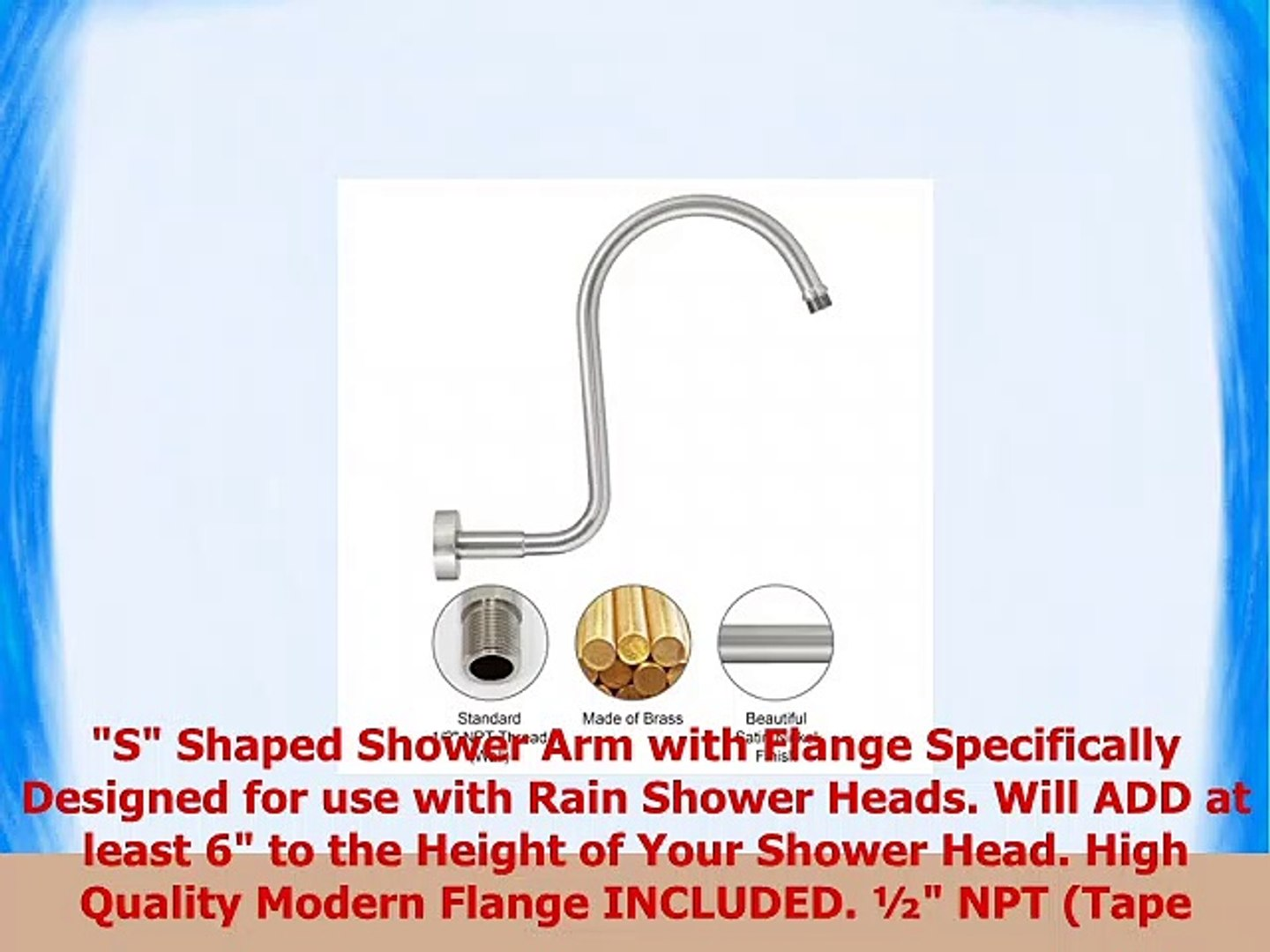 Modona S Shower Arm With Flange Made Of Solid Brass Satin