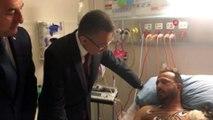 Cumhurbaşkanı yardımcısı Fuat Oktay ve Dışişleri Bakanı Mevlüt Çavuşoğlu hastane ziyaretinde bulundular